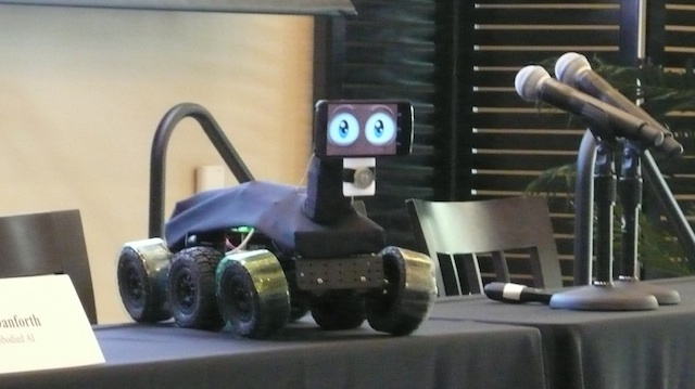prototype pet robot from Embodied AIm, at We Robots 2013