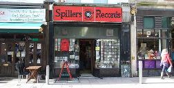 Spillers Record shop, view of the front od the shop from the street